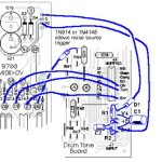 PAiA Drum Tone Board Connections - Diagram