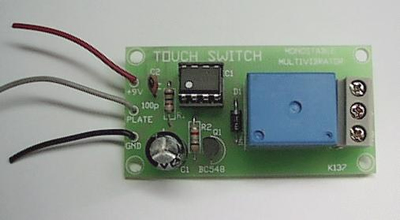 K137 Touch Switch Relay With Timer